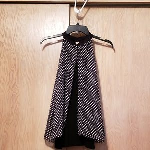 NWOT By & By Polka Dot Sleveless Top